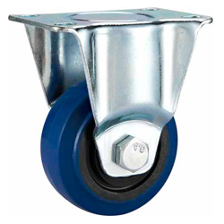 Medium Duty Casters Elastic Rubber Wheel